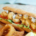 Oven Fried Shrimp Po' Boy