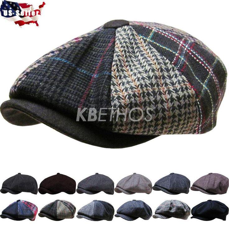 Men's Cabbie Newsboy and Ascot Plaid Ivy Button Hat Cap | Clothing, Shoes & Accessories, Men's Accessories, Hats | eBay!