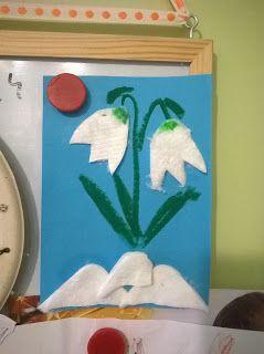 See-Saw: Február - Hóvirág  Egy egyszerű hóvirág alkotás, c...