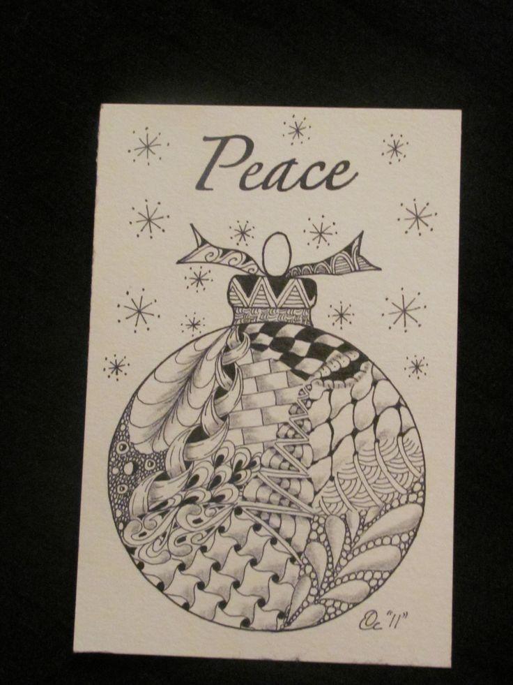 212 best Zentangle Christmas images on Pinterest | Zentangle ...