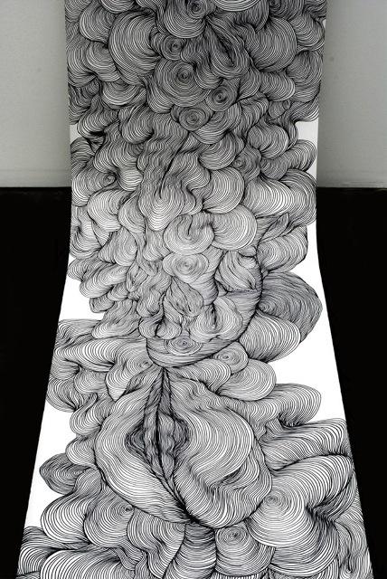 scroll drawing by Sky Kim.