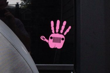 Pink Jeep Wave Decal (Classic)