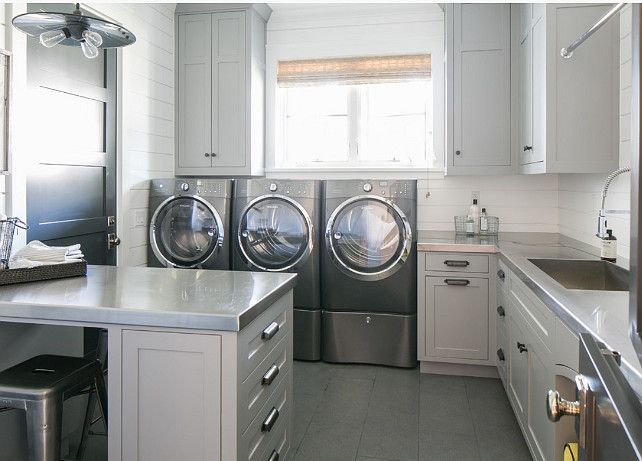 Interior Design Ideas · Gray Laundry RoomsLaundry Room CabinetsMud ...