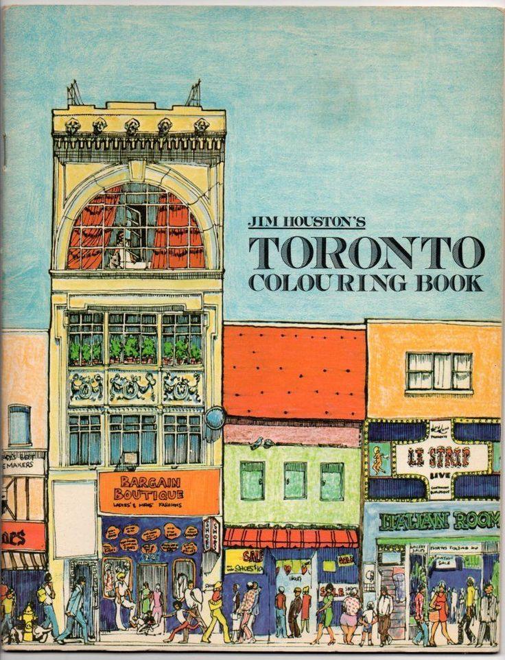 TORONTO COLOURING BOOK Jim Houston 1974 UNUSED Yonge Street Illustrations