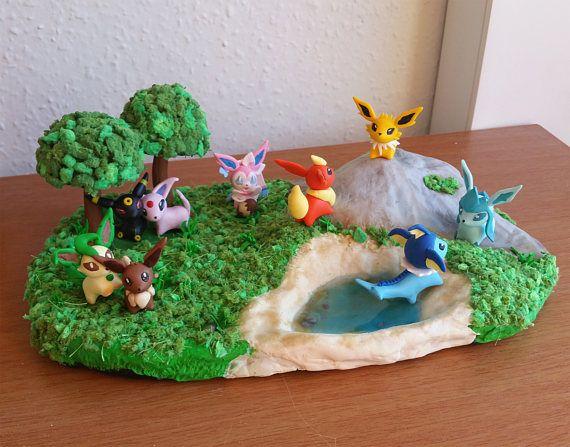 Eevee Evolution pokemon diorama