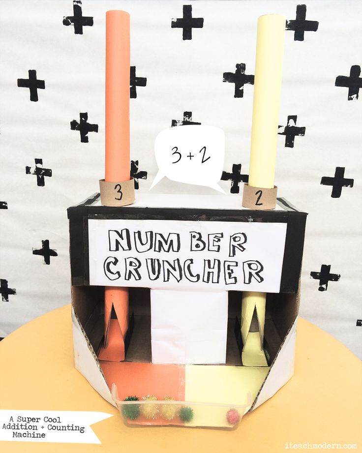 The Number Cruncher | #mathematics | Counting  + Addition just went down the chute! |  iteachmodern.com