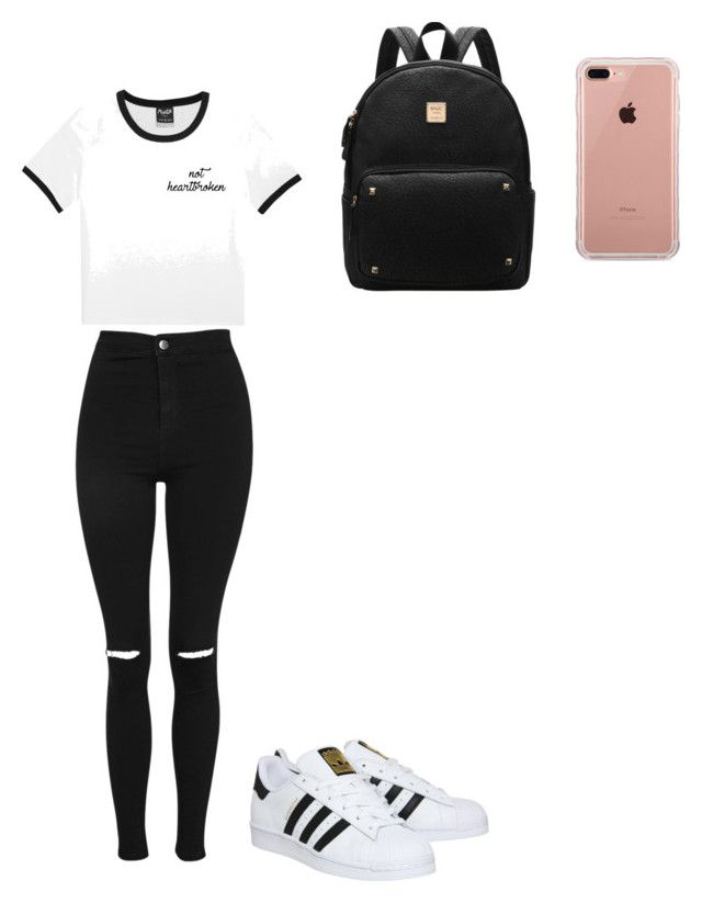 """Untitled #165"" by abbylovesfashion05 on Polyvore featuring Topshop, adidas and Belkin"