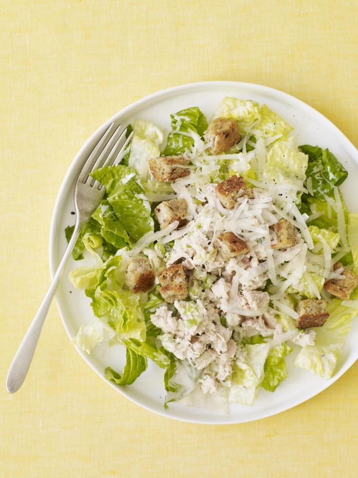 Tuna Caesar Salad from familycircle.com #salad