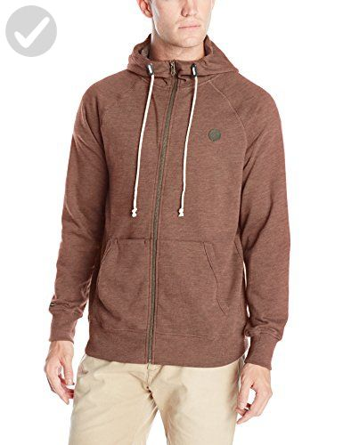 Volcom Men's Pulli Basic Zip Up Hoodie, Cherrywood, Small - For all the skaters (*Amazon Partner-Link)