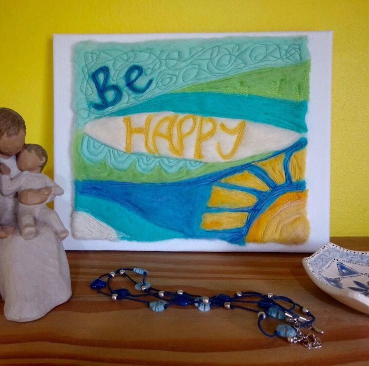 A personal favourite from my Etsy shop https://www.etsy.com/uk/listing/522530821/be-happy-canvas-wellbeing-inspiration