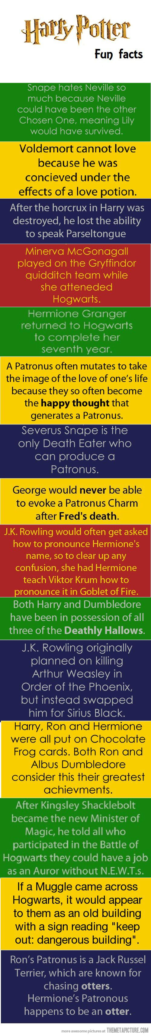 Harry Potter fun facts :)