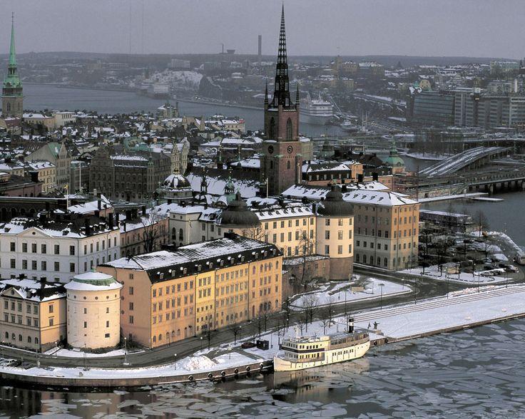 Обои - Города - Швеция, Стокгольм зимой - 1280x1024