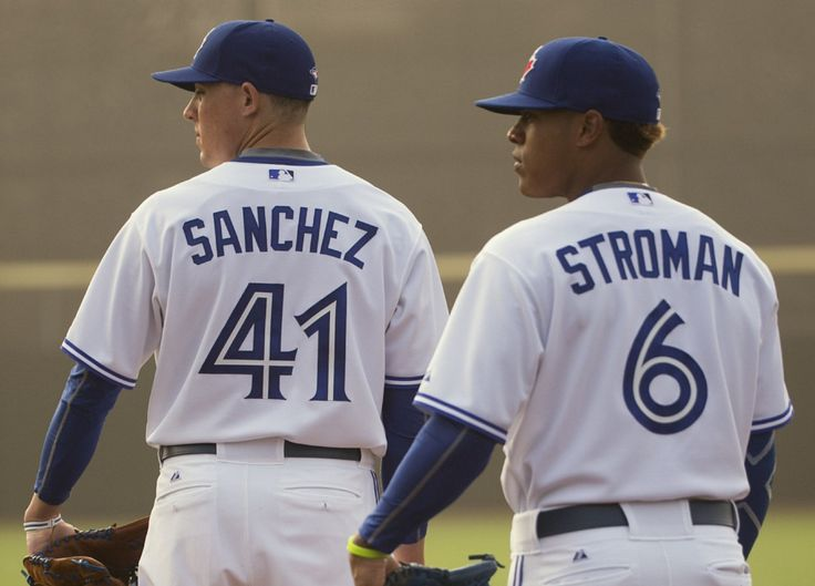 Toronto Blue Jays' pitchers Aaron Sanchez & Marcus Stroman