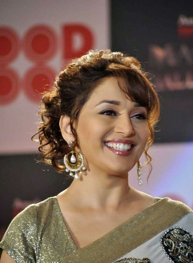 Madhuri Dixit Bun Hairstyle Inspiration For Brides Bun Hairstyles For Long Hair Bun Hairstyles Womens Hairstyles