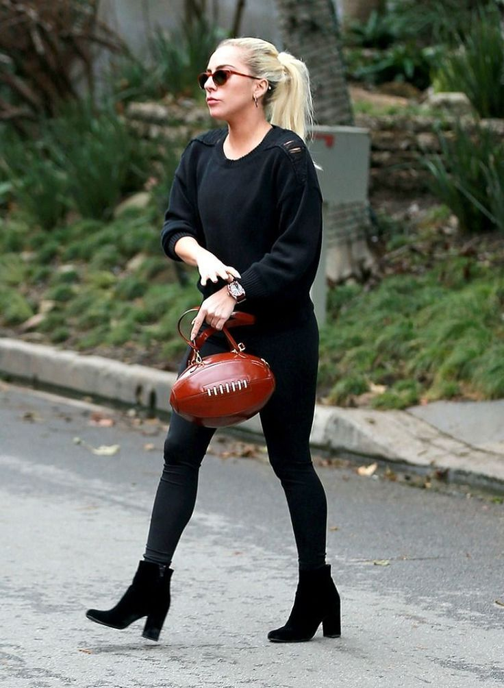 #LadyGaga Has a #Football Purse Just in Time Lady Gaga Has a Football Purse Just in Time for Her Super Bowl Performance  Super Bowl Commercials 2017