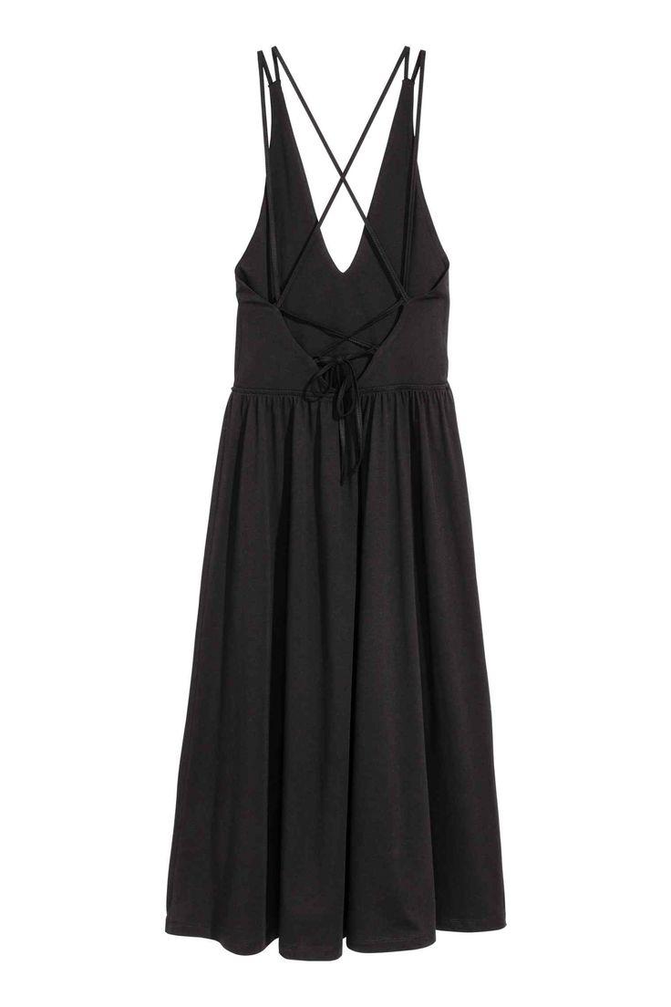 V-neck dress - Black - Ladies | H&M GB