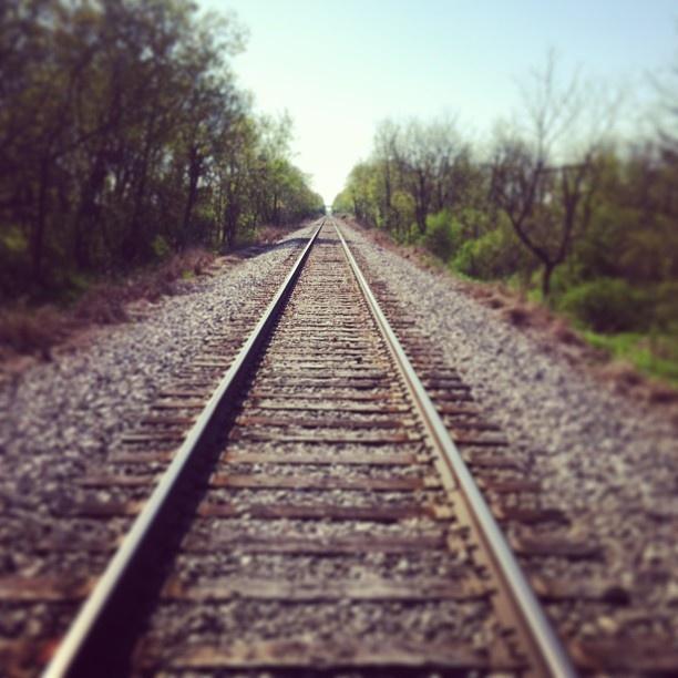 crossing the tracks : morning miles 5-14-13 http://www.darceyrojas.com/morning-miles/