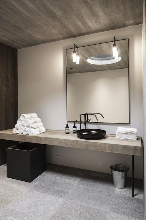 I like the simplicity of this long run (not sure about sink on top). Also ceiling treatment could be nice)..not sure