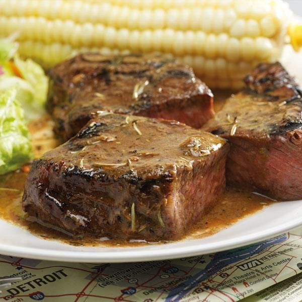 Grilled Steaks with Detroit Zip Sauce