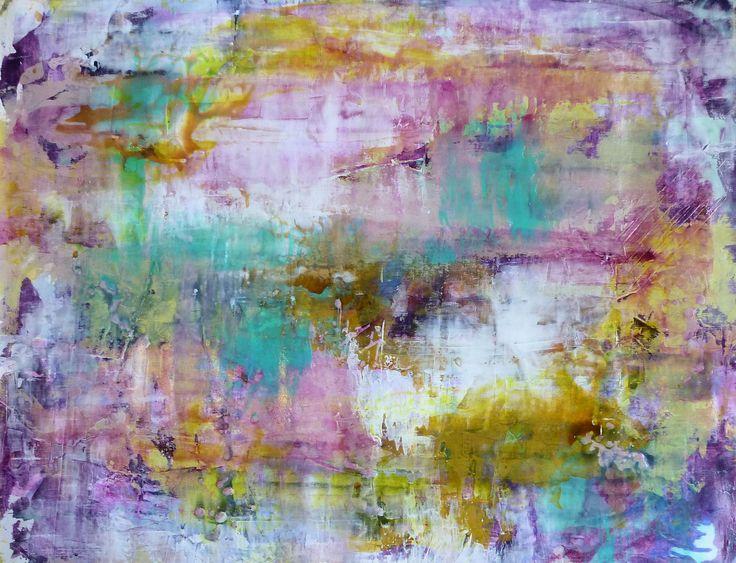 Abstract Acrylics 70x90 cm - title: NoName  by Celina Schou