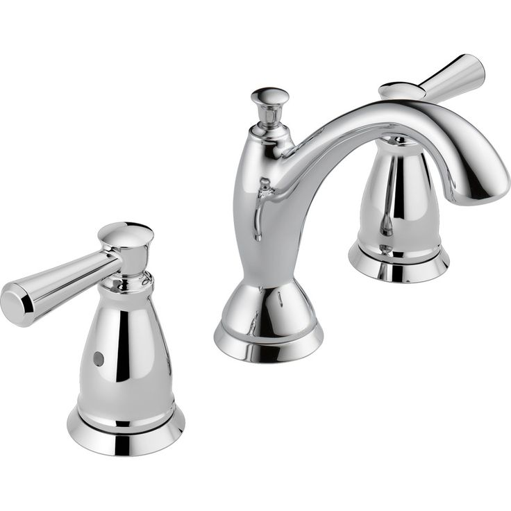delta linden chrome 2 handle widespread watersense bathroom faucet drain included - Kohler Armaturen L Eingerieben Bronze