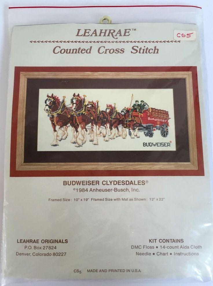Man Cave Hair Stoney Creek : Vintage budweiser clydesdales cross stitch