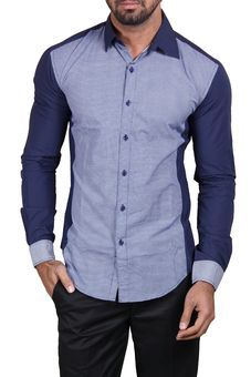 Multicolor Plain Shirt by Manu Couture, Mens Shirts