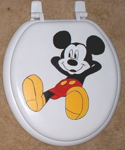 Hand Painted Mickey Mouse Toilet Seat Sale By Cindyscorner