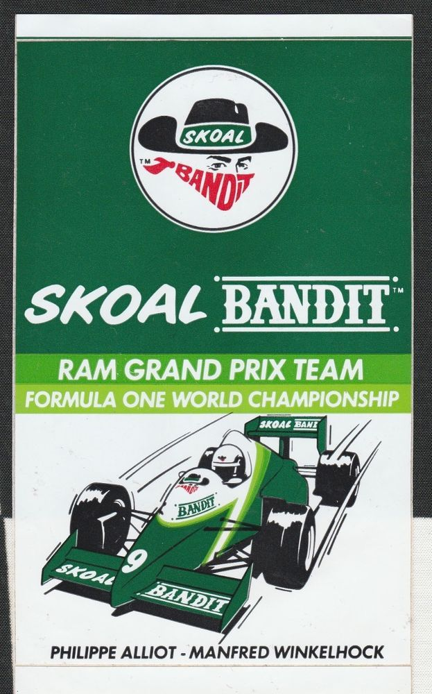 Details about SKOAL BANDIT RAM 03 GRAND PRIX F1 TEAM 1985