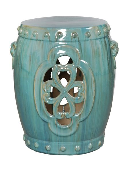 Clover Garden Stool in Blue  sc 1 st  Pinterest & 19 best garden stools images on Pinterest | Ceramic garden stools ... islam-shia.org
