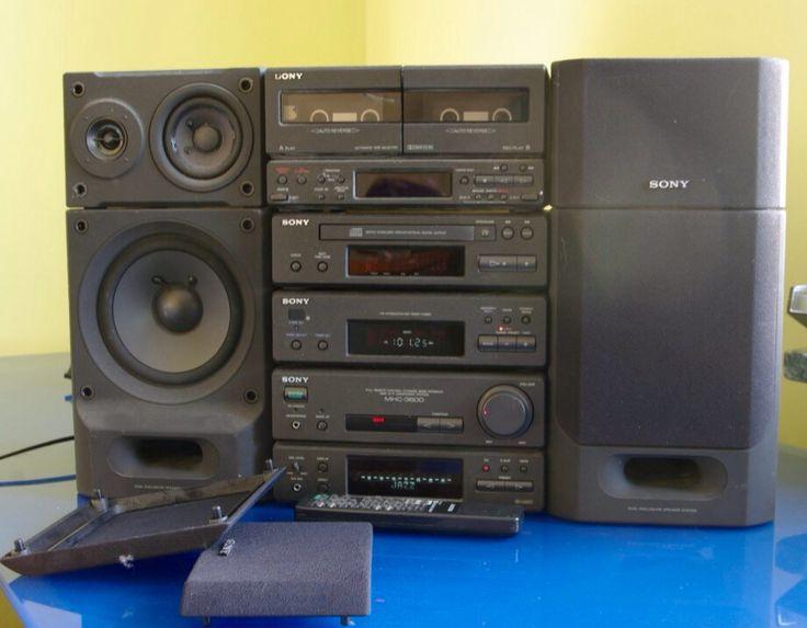 Fantastic mini hifi from late 1980's Sony MHC3600 Bi Amplifier
