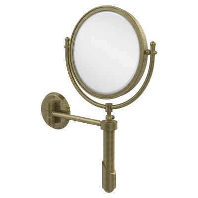 Allied Brass Soho Wall Mounted Makeup Mirror with 3X Magnification - SHM-8/3X-ABR