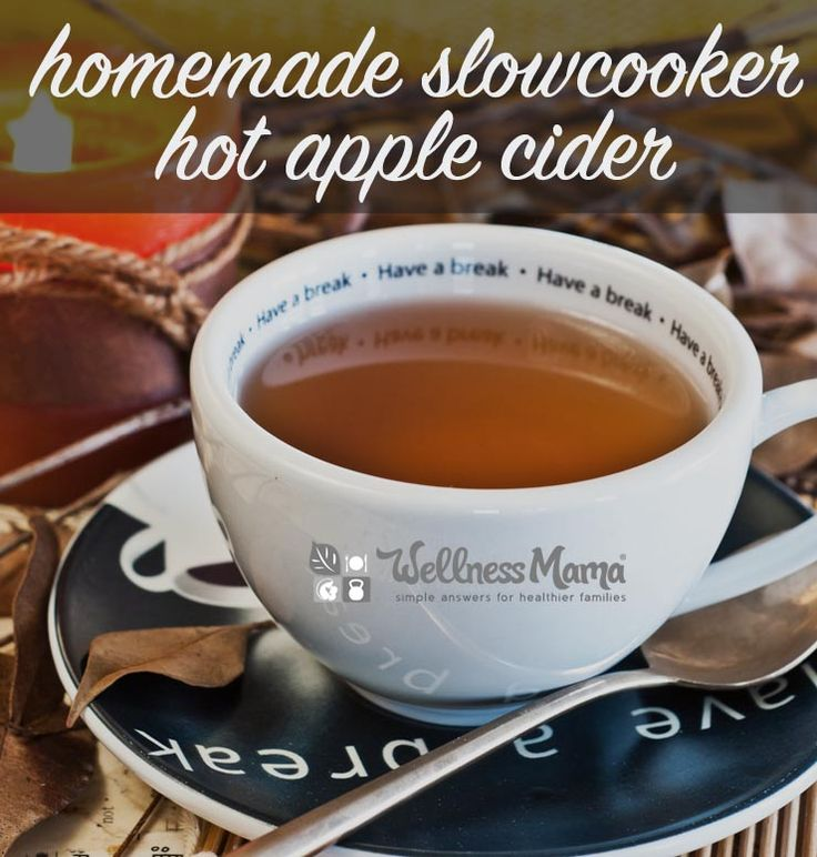 Delicious and simple homemade apple cider recipe that you can make in a crockpot with apples, an orange, cinnamon, nutmeg and cloves.