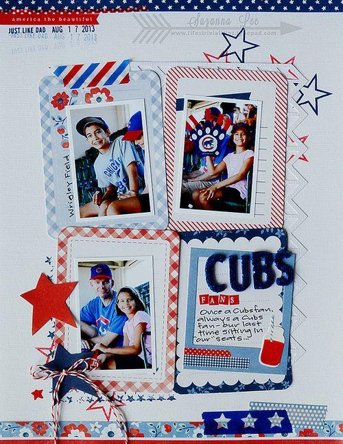 CubsFans  SuzannaLee Pebbles Americana