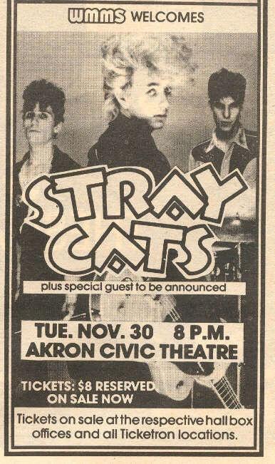 THE STRAY CATS-Brian Setzer-1982 RARE Concert Ad (Cleveland-Scene Magazine) | eBay