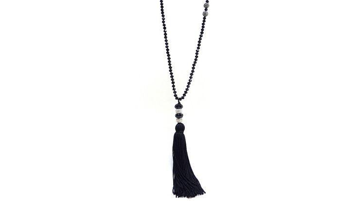 Black tassel necklace!