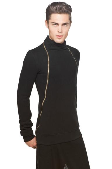 Gareth Pugh Double Zip Sweatshirt $748: Zip Sweatshirts, Pugh Double, Double Zip, Sweatshirts 748, Gareth Pugh