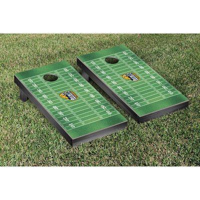 Victory Tailgate NCAA Football Field Version Cornhole Game Set NCAA Team: Averett University Cougars
