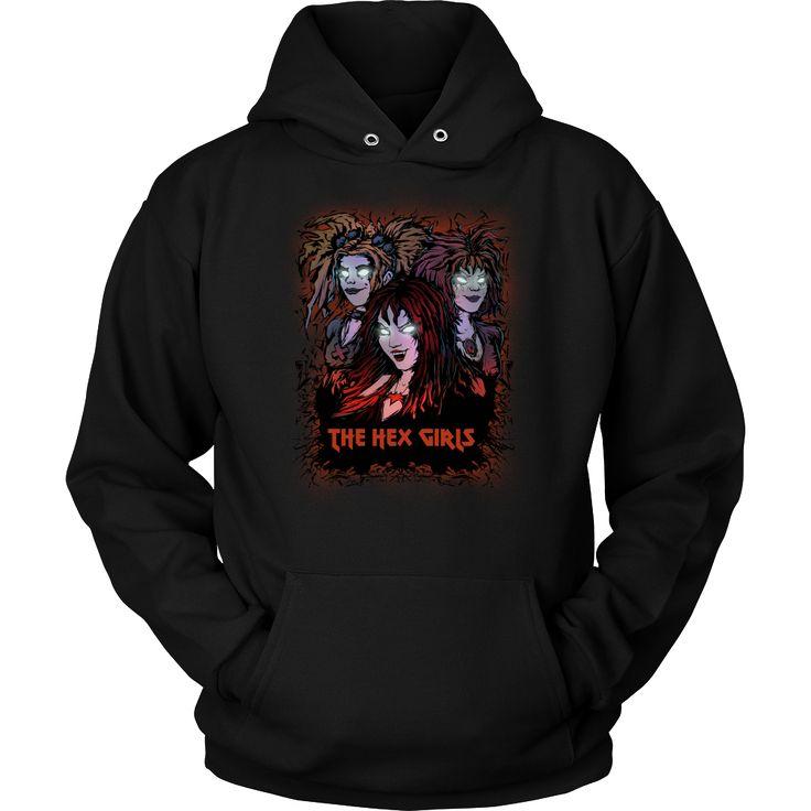 The Hex Girls (1) metal hoodie USD 21.99 We ship worldwide! ------------------- metal head, black metal, goth rock, scooby doo, fashion, clothing