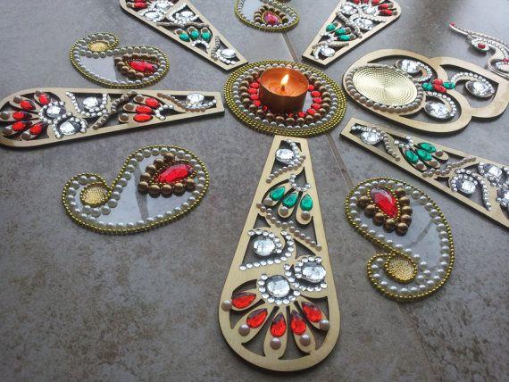 Vintage Diwali Rangoli Rich Look Custom Made by JustForElegance