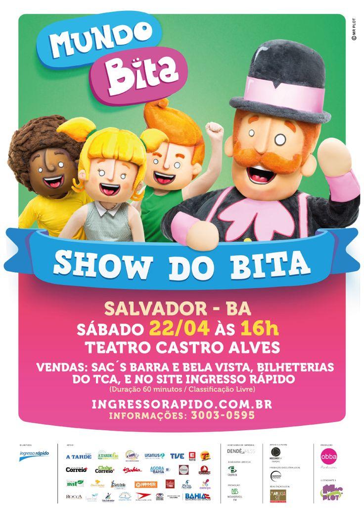 """""""Show do Bita"""" no Teatro Castro Alves, em Salvador. Abril/2017"""