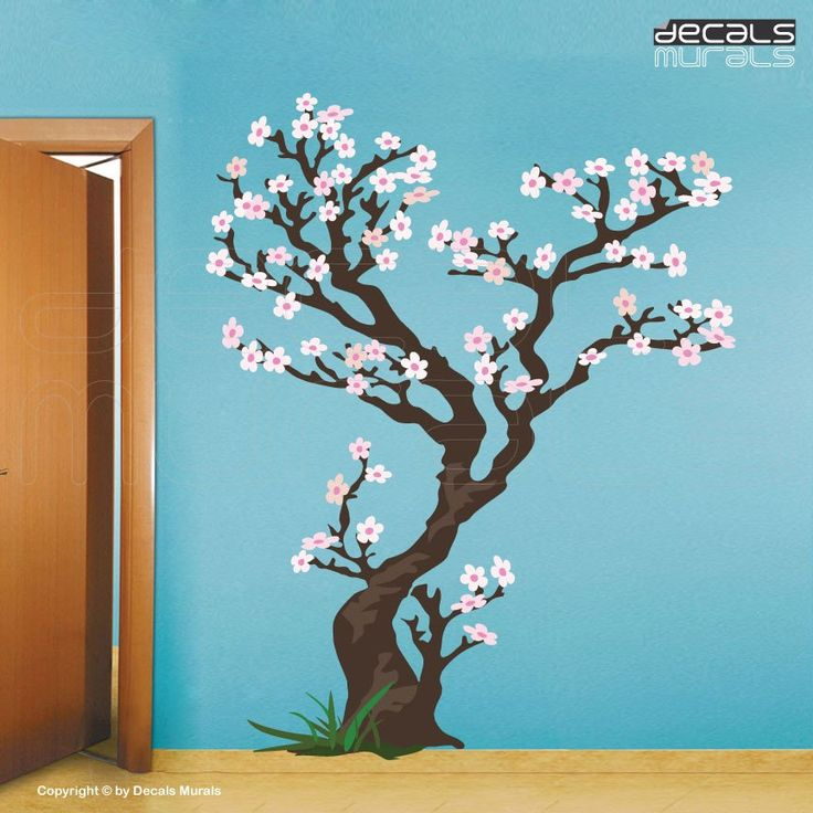 Cherry Tree Removable Decals For Wall Vinyl Art Stickers By Decals Murals Vinyl Art Stickers Vinyl Wall Art Tree Wall Decal