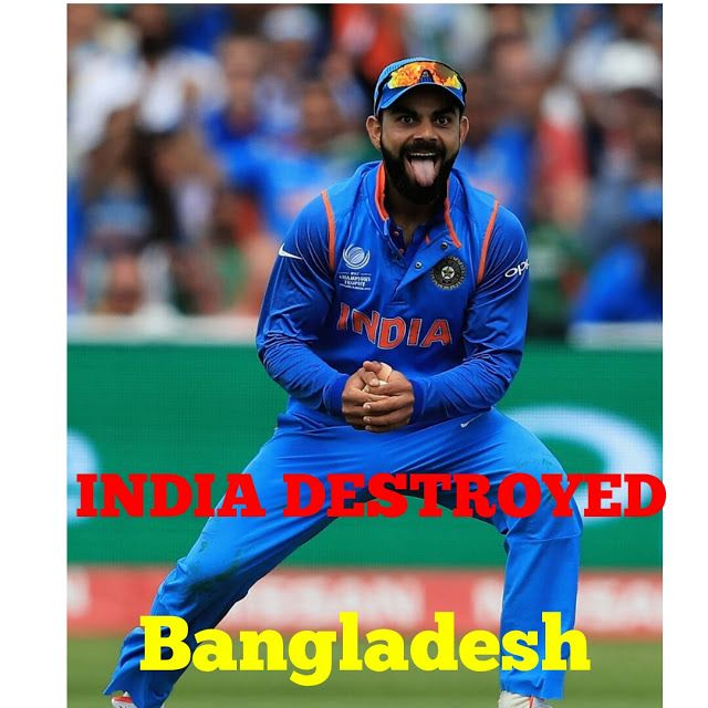 Indian sports Channel: India destroyed bangladesh by 9 Wickets win...