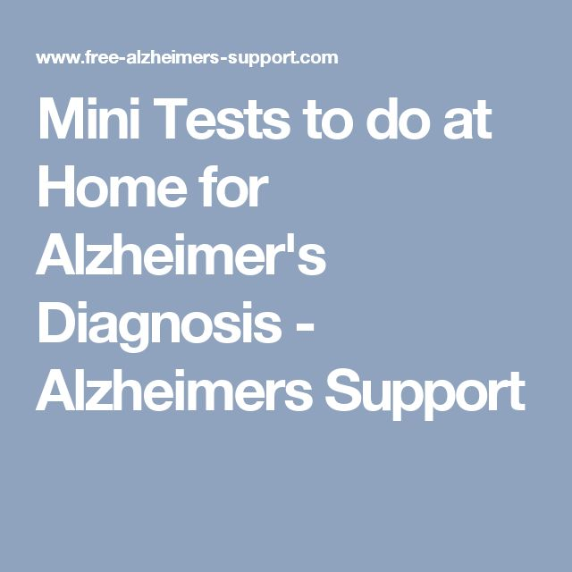 Mini Tests to do at Home for Alzheimer's Diagnosis - Alzheimers Support
