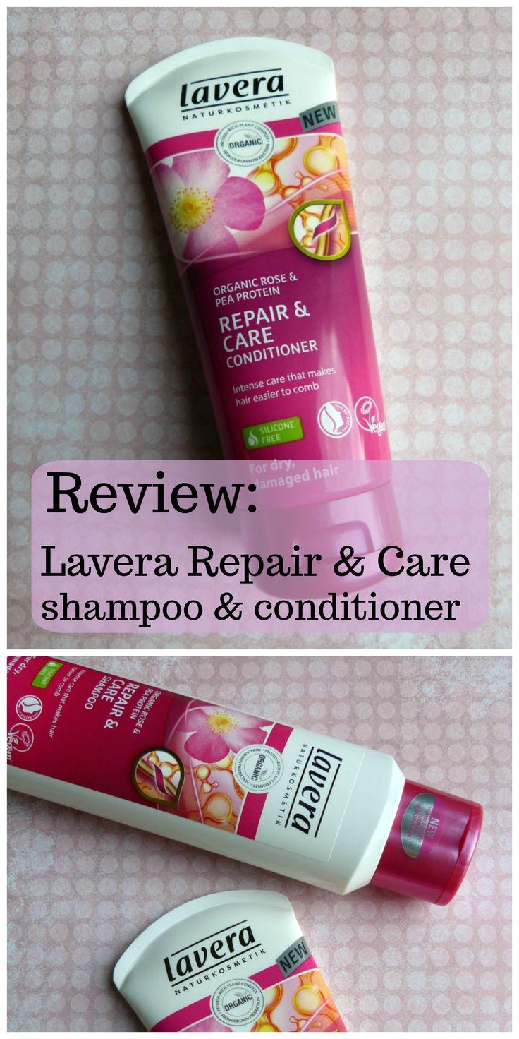 Review van natuurlijke verzorging Lavera: natuurlijke shampoo en conditioner Repair & Care voor droog en beschadigd haar.   Biologisch, Natrue label, vegan, natuurcosmetica