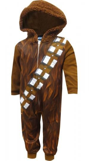 Star Wars Chewbacca Hooded Boys Union Suit Pajama