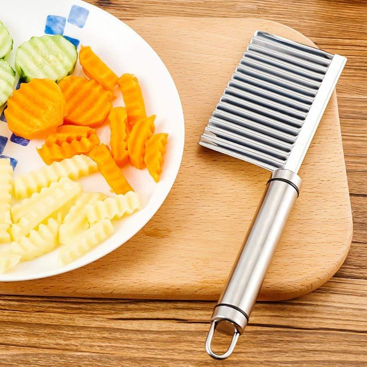 Crinkle french fry cutter stainless steel veggies crinkle