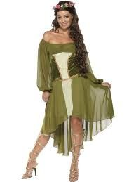 Costume Lady Marian, travestimento Principessa Medio Evo. Tg.M. Per accompagnare Robin Hood alla sfilata di Carnevale o Festa a Tema. Disponibile da C&C Creations Store, completo di Abito e corona fiori stoffa.