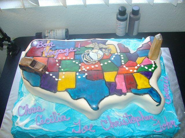 Moving to Washington, DC GoodBye Cake