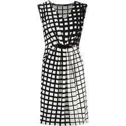 Anna Field Sukienka z dżerseju black/white